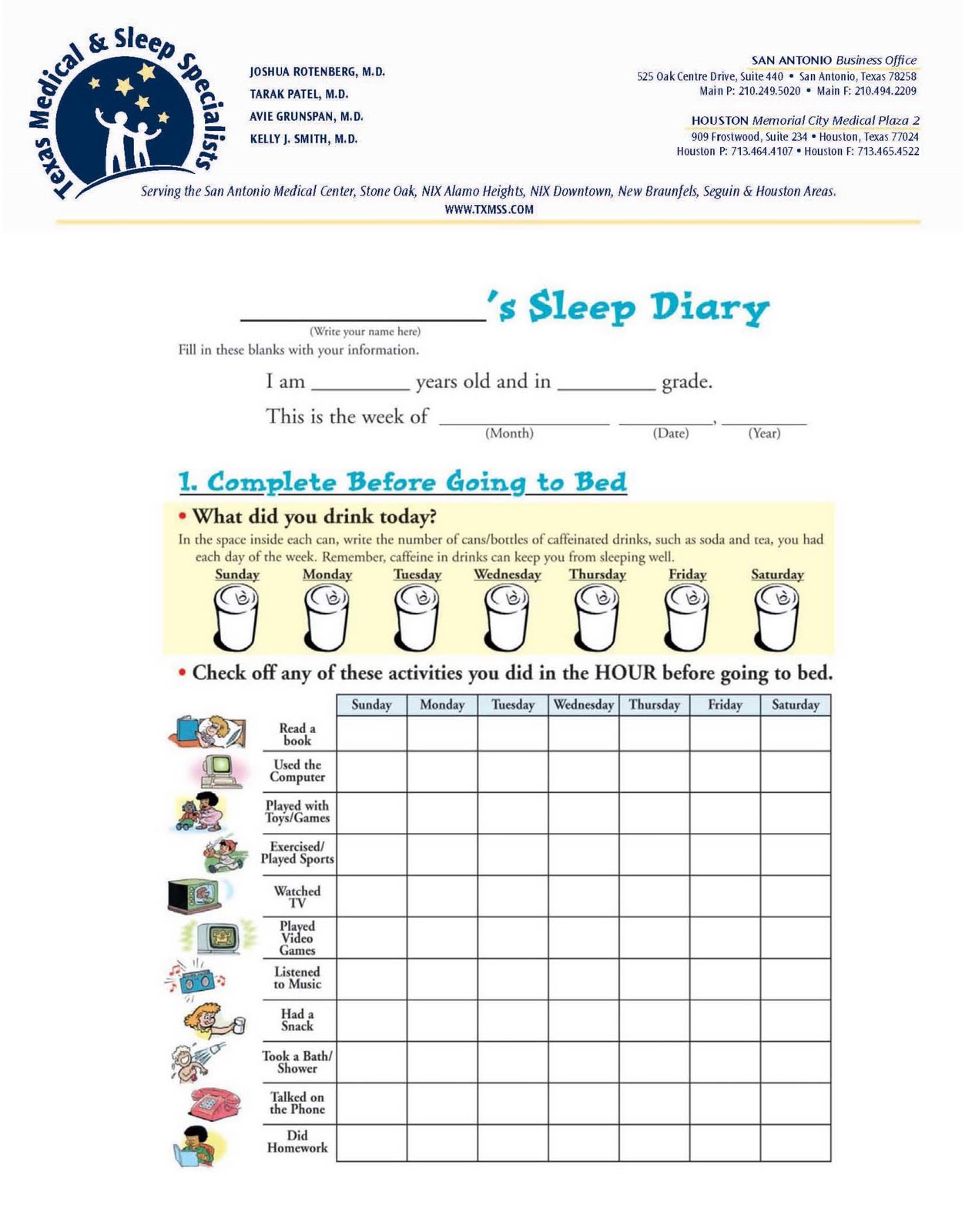 Sleep srxa 39 s word on health for Seizure diary template
