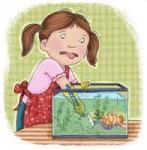 cleaning aquarium